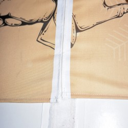 Bandeau imprimé fixé par velcro pour poteau arche gonflable en location
