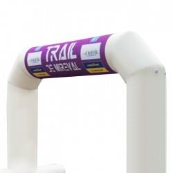 Bandeau imprimé pour le fronton de l'arche gonflable en location