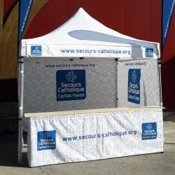 Tente pliante personnalisée en location
